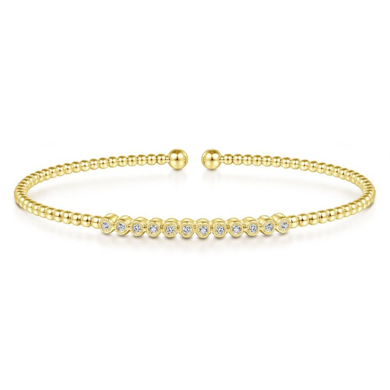 Gabriel & Co. -  IN-STORE COLLECTION Bujukan Bangle with Twelve Diamonds