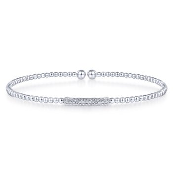 Pave Bar Diamond Bangle