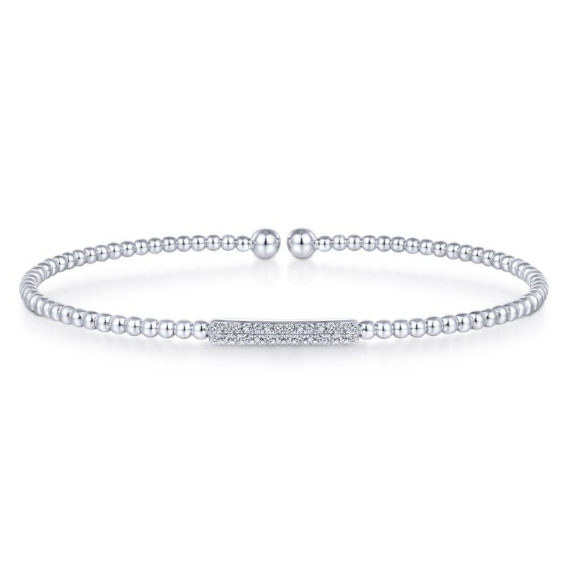 Gabriel & Co. -  IN-STORE COLLECTION Pave Bar Diamond Bangle