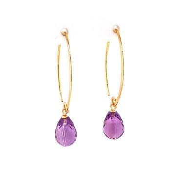 Amethyst Briolette Earrings