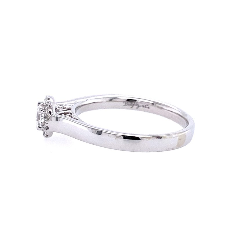Gabriel & Co. -  IN-STORE COLLECTION 14K White Gold Round Halo Complete Diamond Engagement Ring