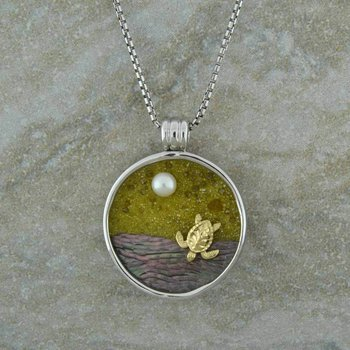 Galatea Turtle Pendant