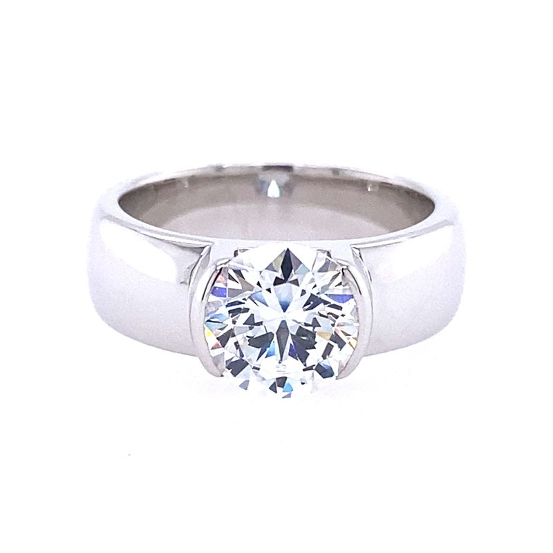 B&C Creations Wide Solitaire Engagement Ring