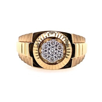 Gents Diamond Cluster Ring
