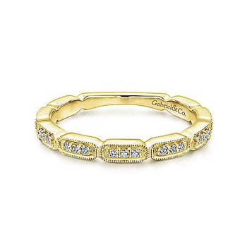 Segmented Diamond Stackable Band