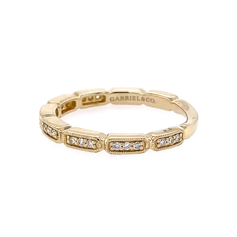 Gabriel & Co. -  IN-STORE COLLECTION Segmented Diamond Stackable Band