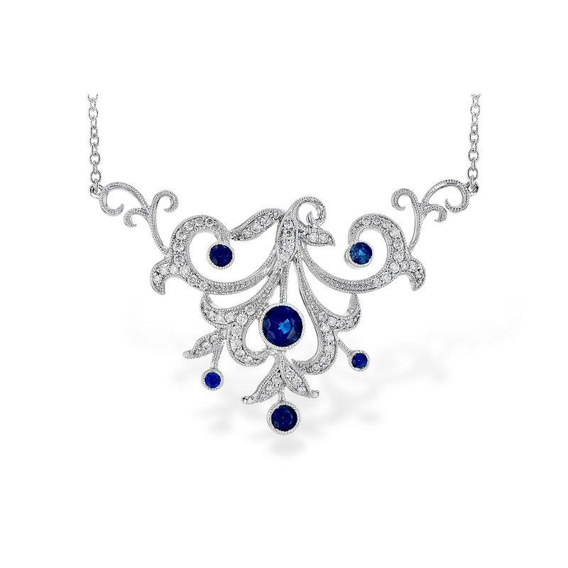 Allison Kaufman Sapphire and Diamond Necklace