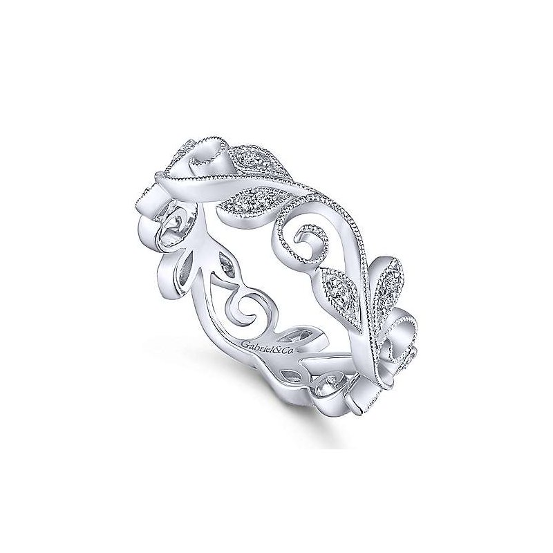 Gabriel & Co. -  IN-STORE COLLECTION Diamond Vine Ring