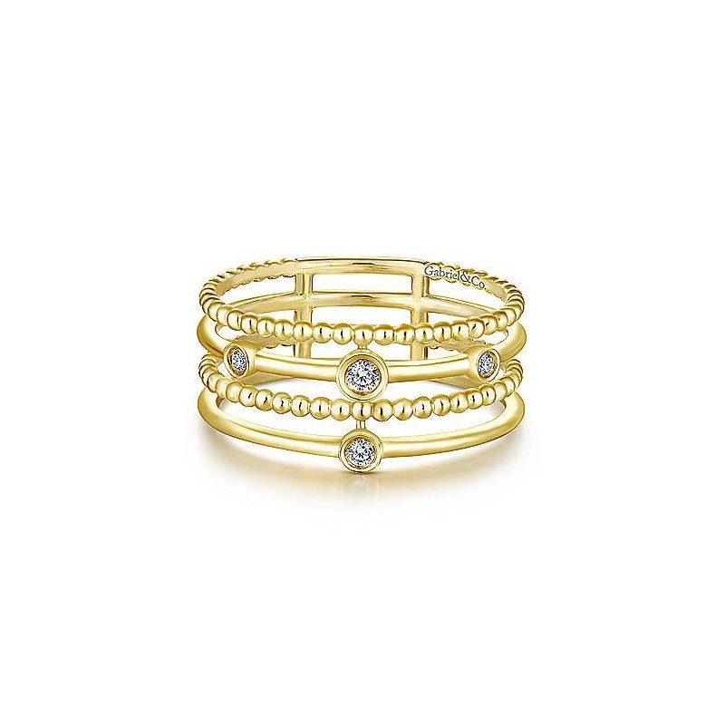 Gabriel & Co. -  IN-STORE COLLECTION Layered Bezel Station Ring
