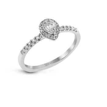 Petite Pear Shaped Diamond Engagement Ring