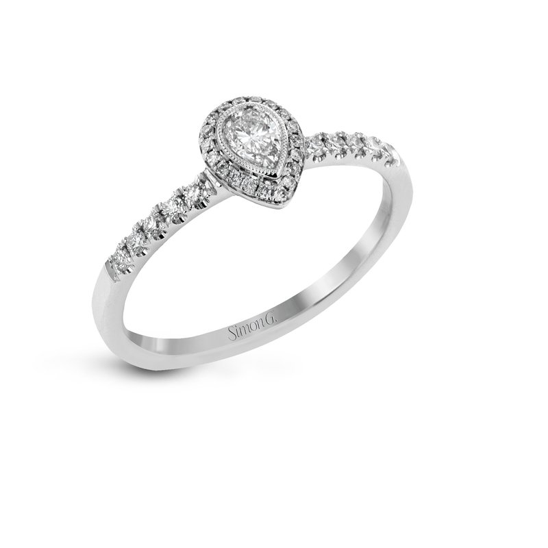 Simon G IN-STORE COLLECTION Petite Pear Shaped Diamond Engagement Ring