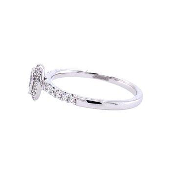 Petite Pear Shaped Diamond Engagement Ring