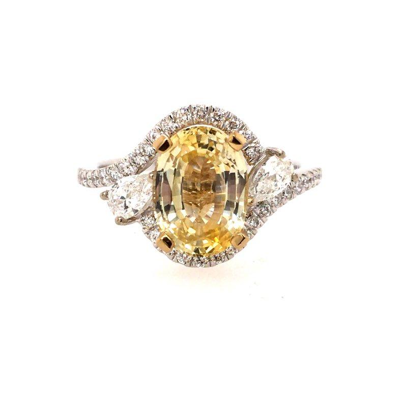B&C Creations Yellow Sapphire and Diamond Ring