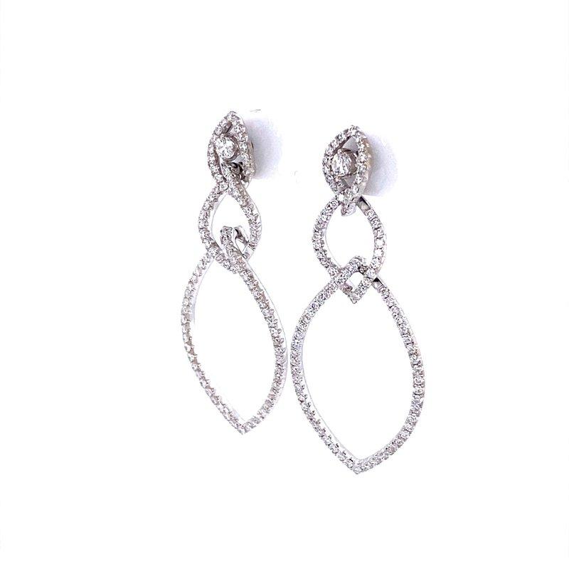 B&C Estate Collection Marquis Shaped Diamond Dangle Earrings