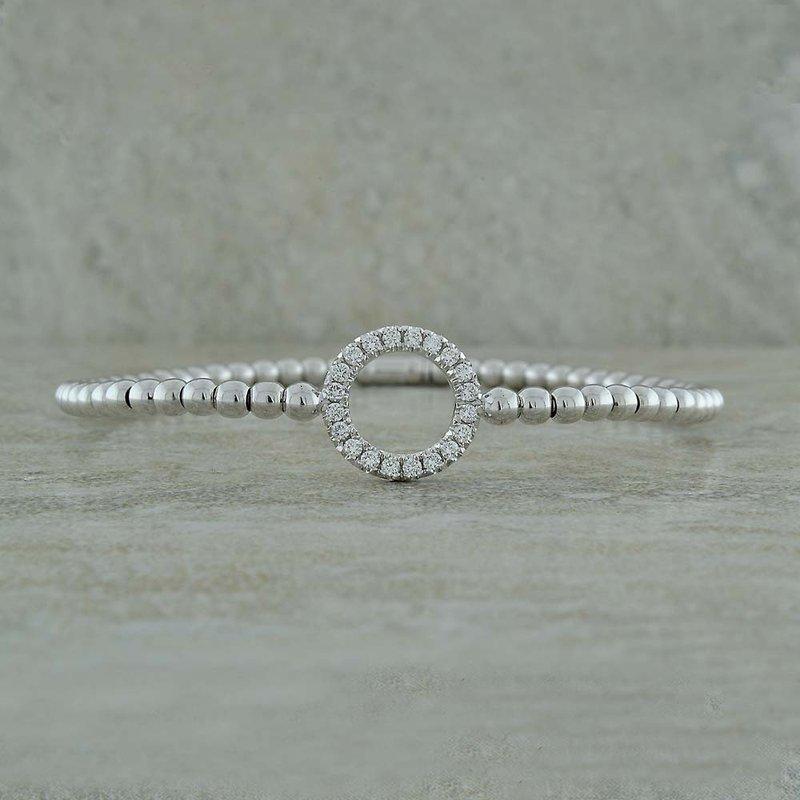 Hulchi Belluni Diamond Circle Stretch Bangle