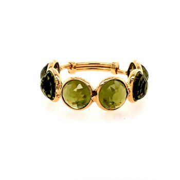 Adjustable Peridot Ring