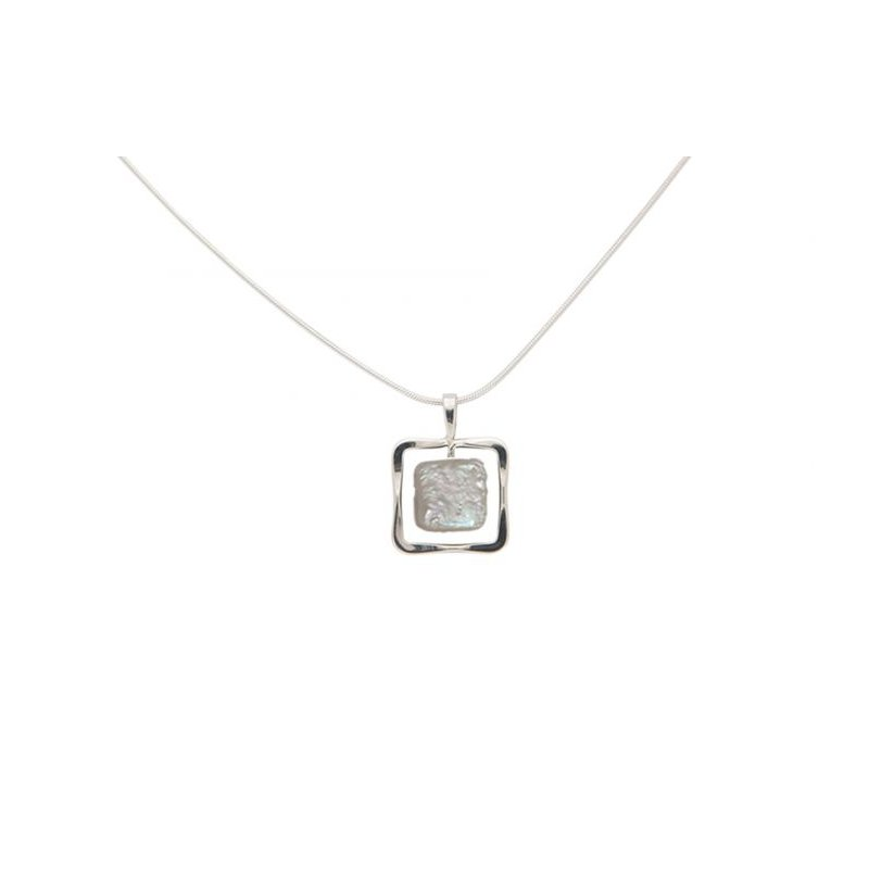 E. L. Designs IN-STORE Collection Sterling Silver Zenith Square Freshwater Pearl Pendant