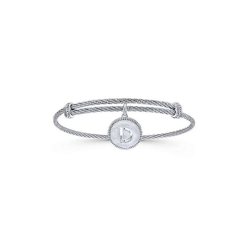 "Gabriel & Co. -  IN-STORE COLLECTION SS Initial ""D"" Bangle"