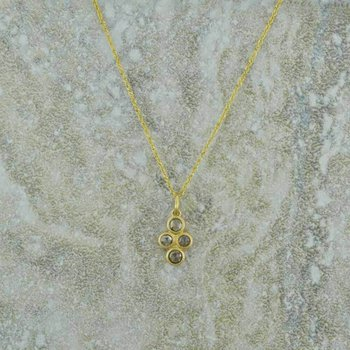 Quadruple Diamond Pendant