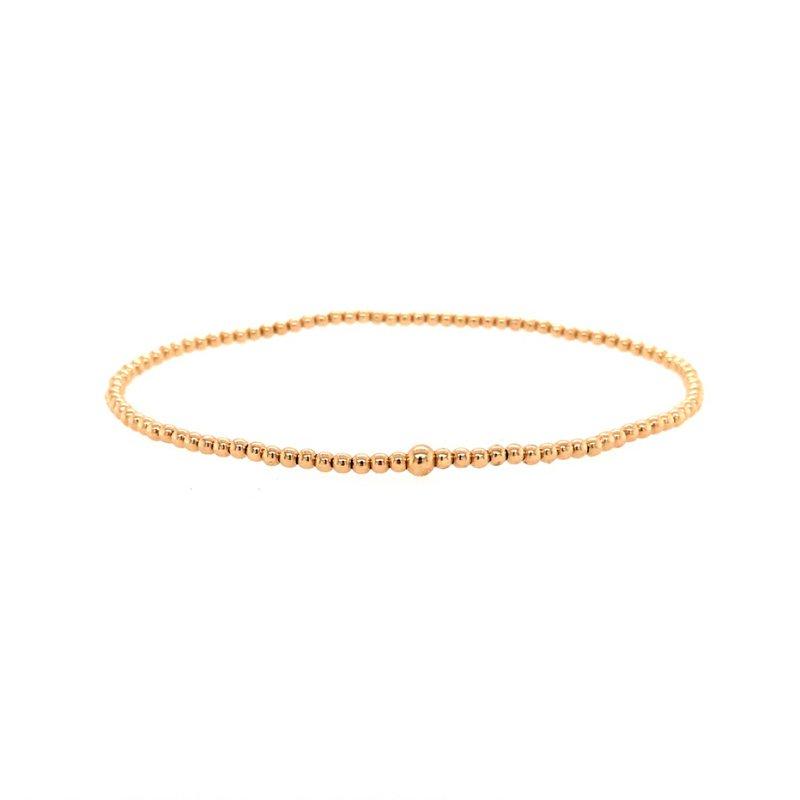 Karen Lazar 2mm Yellow Gold Filled Bead Bracelet