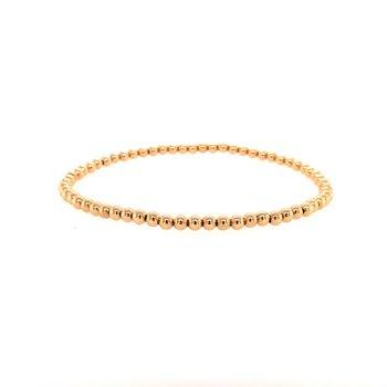 Stretch 3 MM Gold Filled Bead Bracelet