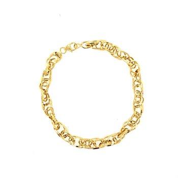 Gold Euro Link Bracelet