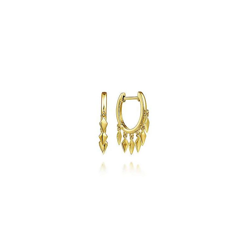 Gabriel & Co. -  IN-STORE COLLECTION Spiked Gold Huggies