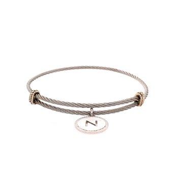 "Initial ""N"" Charm Bracelet"