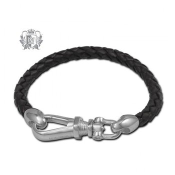 Gents Leather Braided Bracelet
