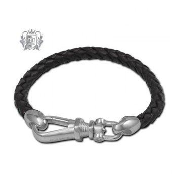 Gents Leather Braided Bracelet