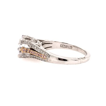 Pink Diamond Accented Engagement Ring