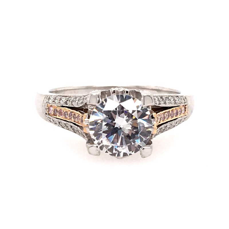 B&C Collections Pink Diamond Accented Engagement Ring