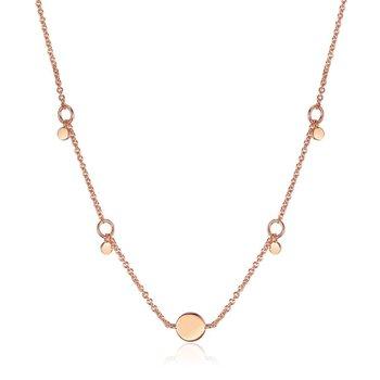 Geometry Drop Disc Necklace