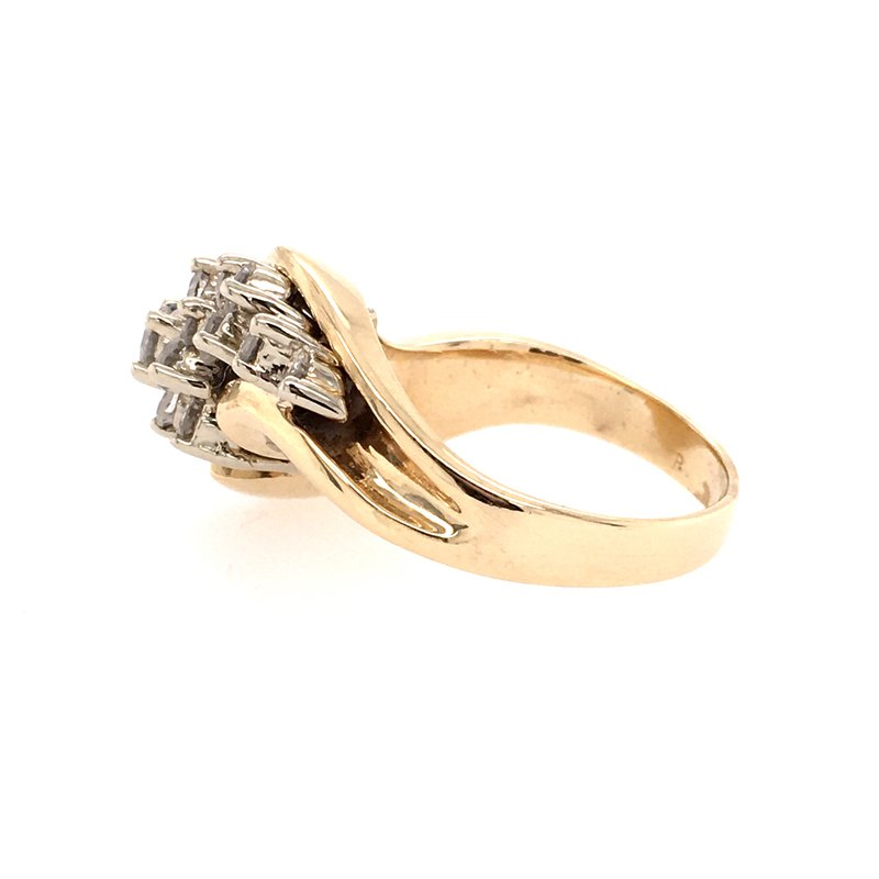 B&C Estate Collection Cluster Diamond Cocktail Ring