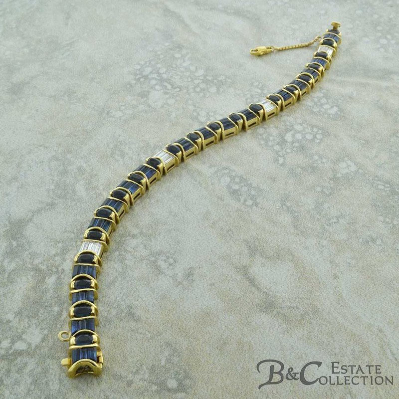 B&C Estate Collection Sapphire & Diamond Bracelet