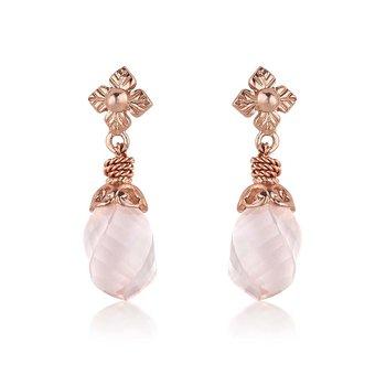 Rose Quartz Drop Earrings
