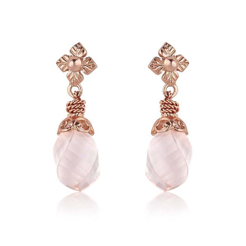 Anatoli Jewelry Rose Quartz Drop Earrings