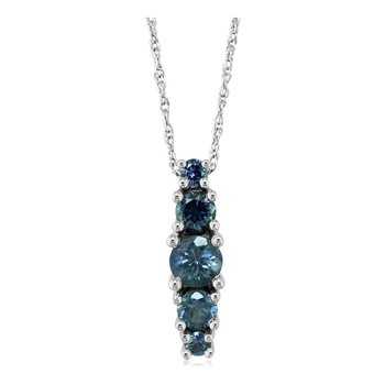 14K White Montana Sapphire Necklace