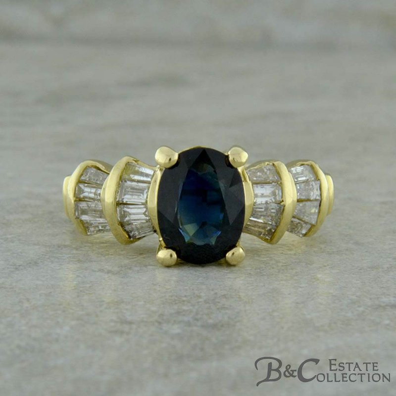 B&C Estate Collection Sapphire & Diamond Ring