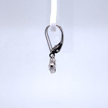 Old Mine Cut Diamond Dangle Earrings