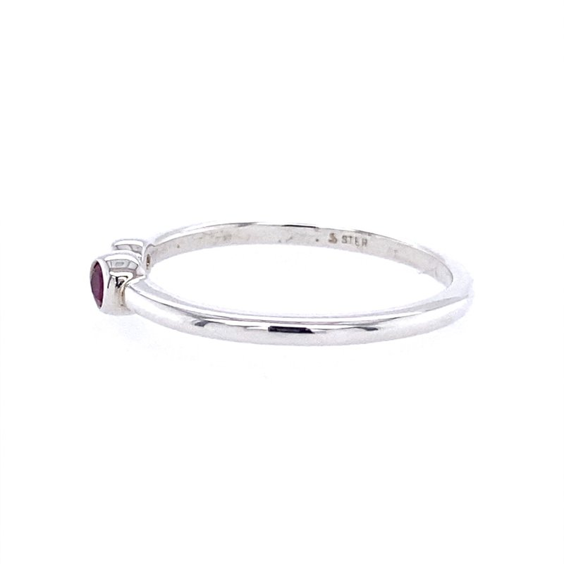 B&C Collections Bezel Set Open Birthstone Ring