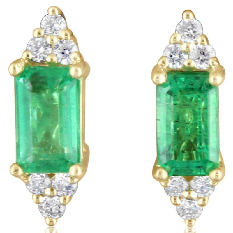 Parlé Emerald and Diamond Earrings