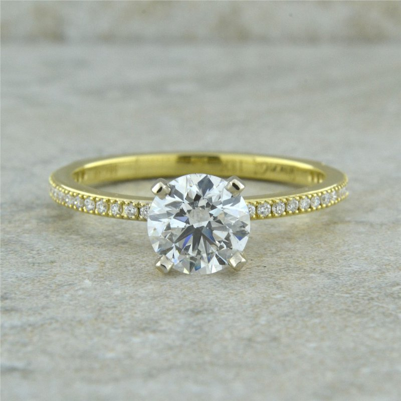 Simon G IN-STORE COLLECTION Classic Engagement Rign with Round Diamond