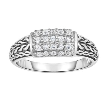 White Sapphire Woven Ring