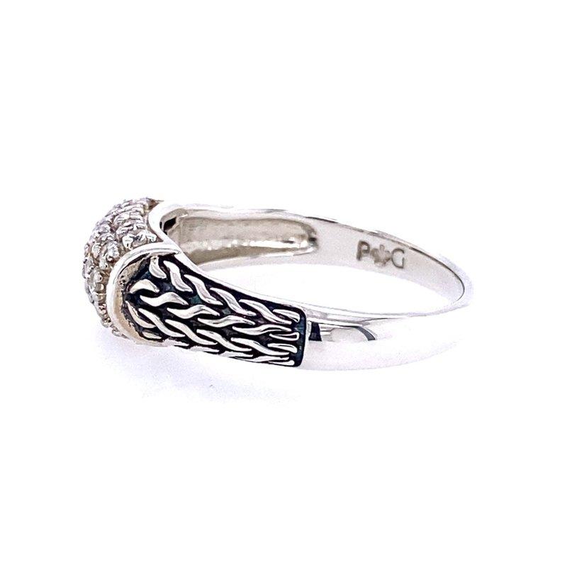 Phillip Gavriel White Sapphire Woven Ring