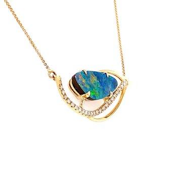 Australian Opal Doublet Necklace