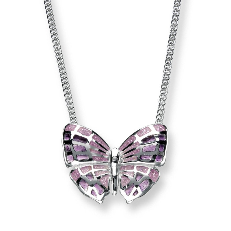 Nicole Barr Designs IN-STORE Collection Purple Enamel Butterfly Necklace