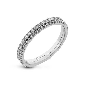 White Gold Diamond Stackable Band