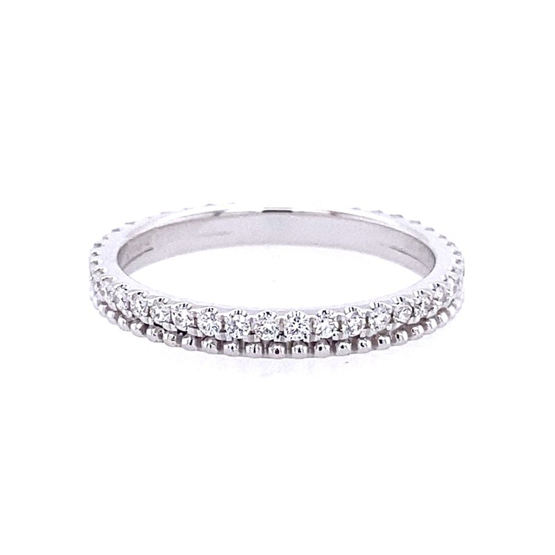 Simon G IN-STORE COLLECTION White Gold Diamond Stackable Band