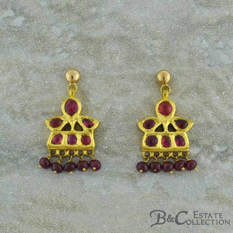 B&C Estate Collection Ruby Dangle Earrings